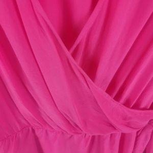 Ann Taylor Tops - Ann Taylor Silk Women's Top Silk Faux Wrap Pink